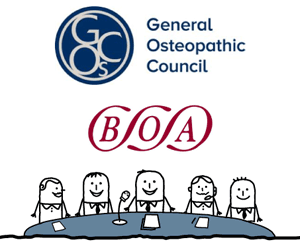 The General Osteopathic logo and council
